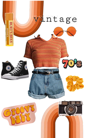 vintage 70's inspired outfit