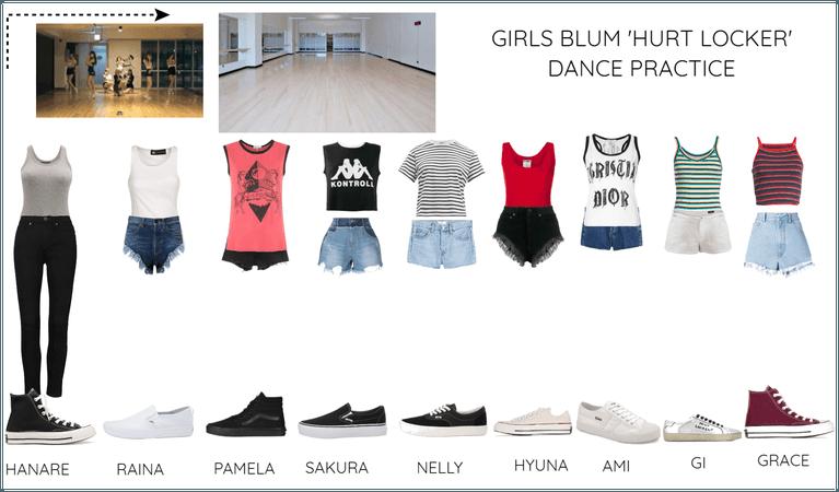 GIRLS BLUM 'HURT LOCKER' DANCE PRACTICE