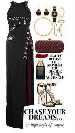 gorgeous black dress look