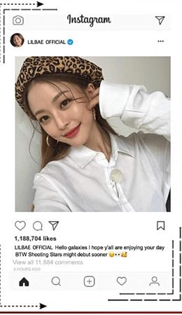 LIL BAE Instagram Post