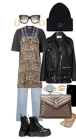 Beanie, boots & biker jacket