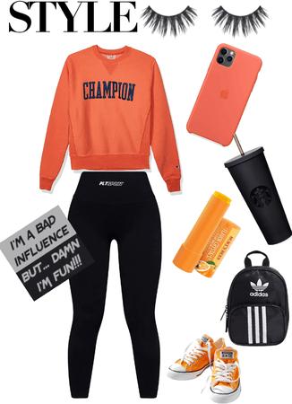 black and orange color challenge