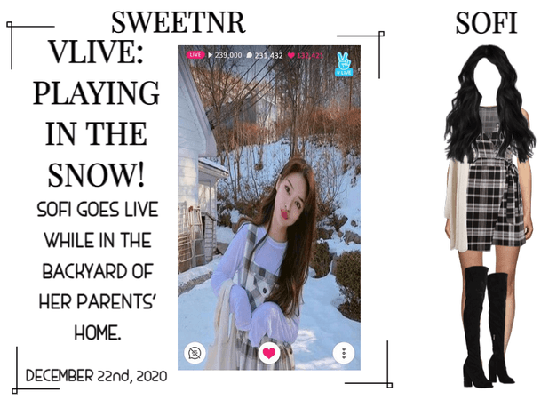 ~SWTNR~ VLIVE (SOFI): PLAYING IN THE SNOW!