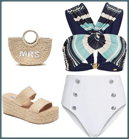 playa azul/blanco