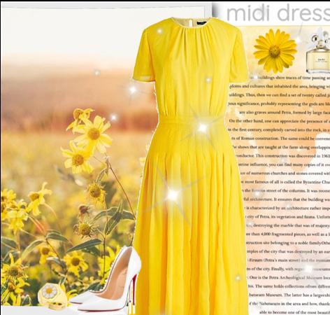 Yellow daisy midi xrdzs