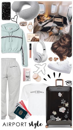 pastel comfy airplane outfit