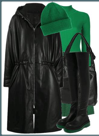 leather winter coat
