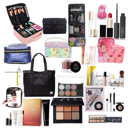 Makeup and hair and nails bag
