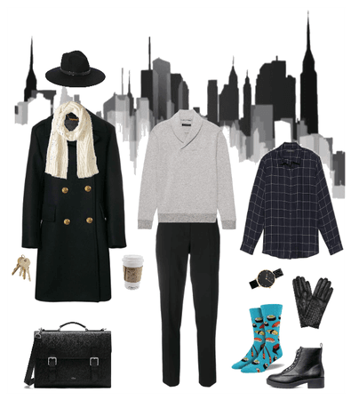 Androgynous winter layers