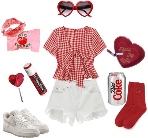 cherry red coquette
