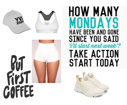 Jog outfit: White