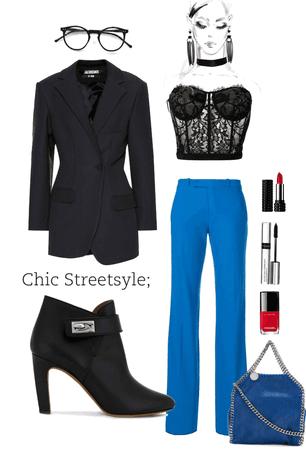 Black and Blue and Chic All Over