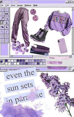 purple in paradise
