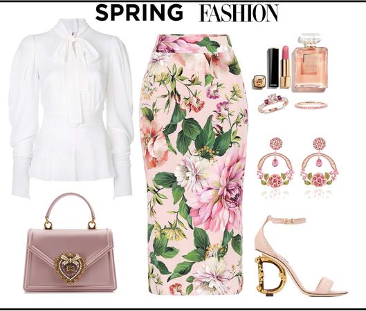 Spring Pencil Skirt