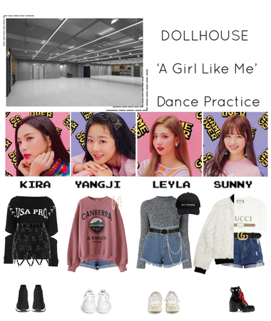 {DOLLHOUSE} 'A Girl Like Me' Dance Practice