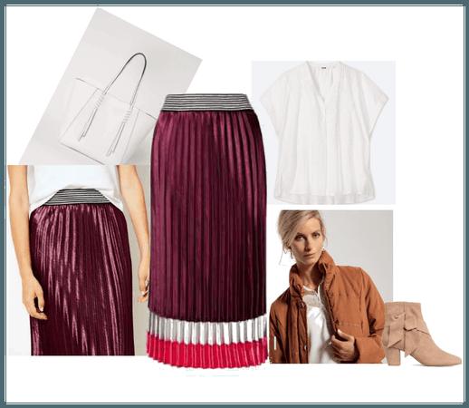 The pleated skirt