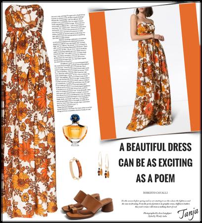 Floral Maxi Dress/Summer 2020