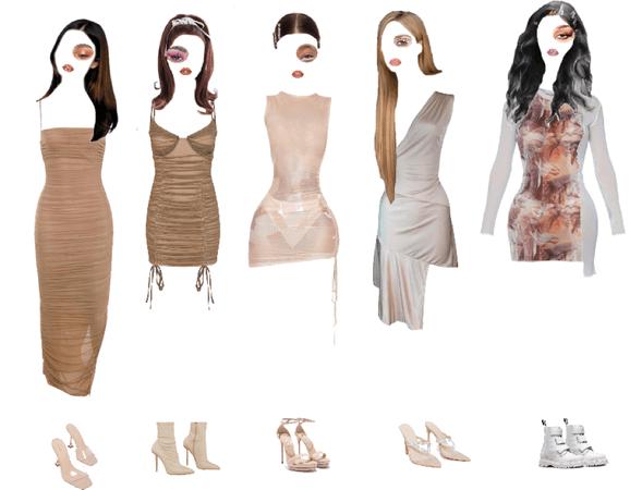 nude dress.
