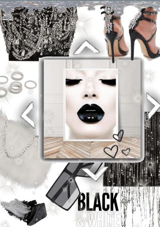  For Art Challenge  Black&White plus silver