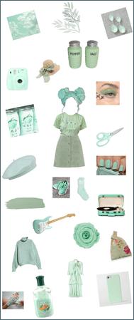 Colour theme 9: pastel green
