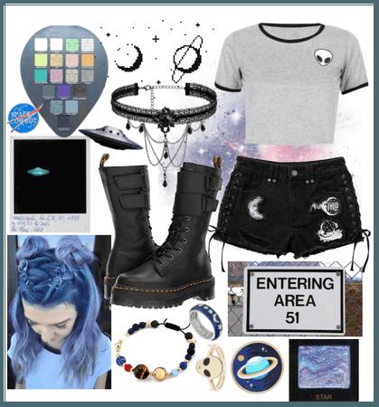 Area 51 Spacegirl (B&W #10)