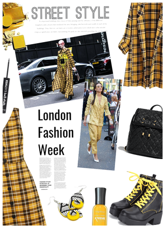 London Fashion Week/Yellow Street Styles
