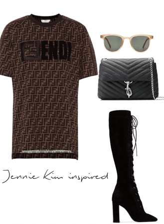 BLACKPINK- 'JENNIE' AIRPORT FENDI OUTFIT STYLE INSPIRED
