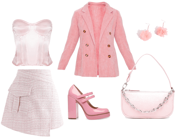 cute all pink fits
