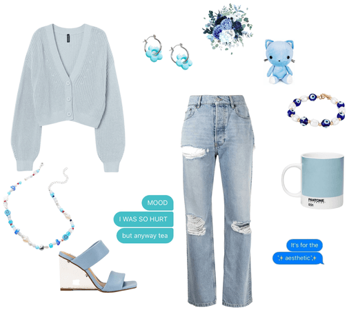 blue outfit challenge