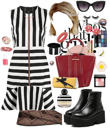 Mod 1960's Stripe Pink