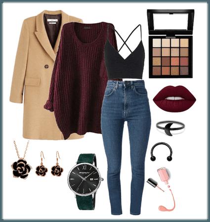 burgundy winter style