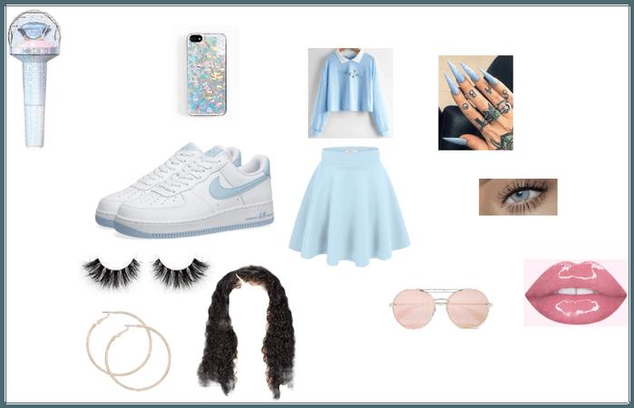 Seventeen lightstick inspired outfit
