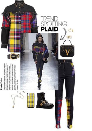 plaid Versace