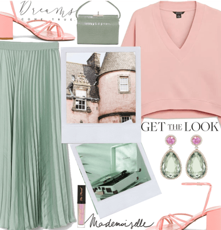 Pastel Pink and Mint green
