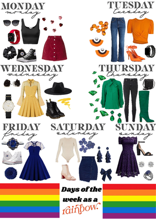 days of the week~rainbow style