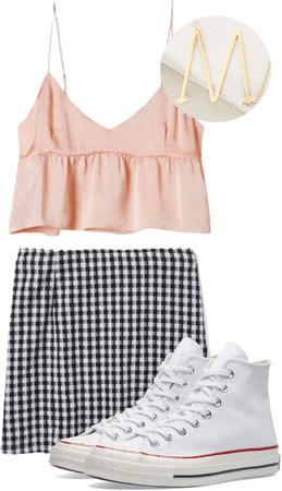 gingham skirt on fleek
