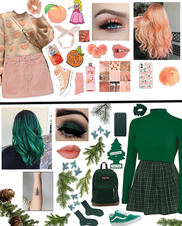 Peach and Pine Green!🍑🌲