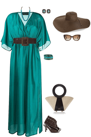 chocolate n teal