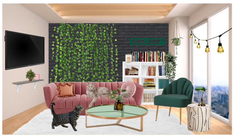 evergreen apartment family room