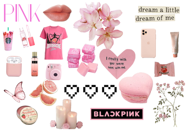 Monochromatic mood board: PINK