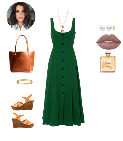 Green and Cognac