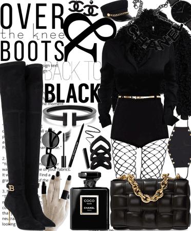All Black Shorty Shorts