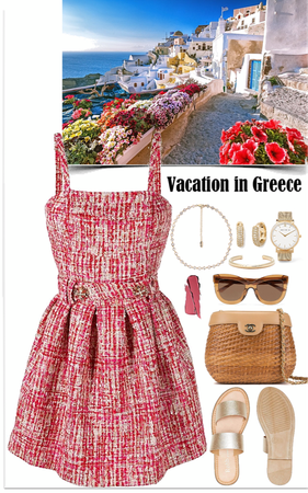 elegance look for a vacation in Greece