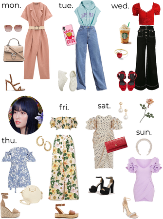 TWICE MOMO's weekly outfits - summer 1
