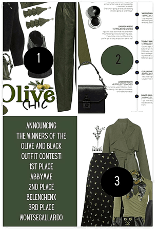 Announcing The Winners Of The Olive And Black Outfit Contest