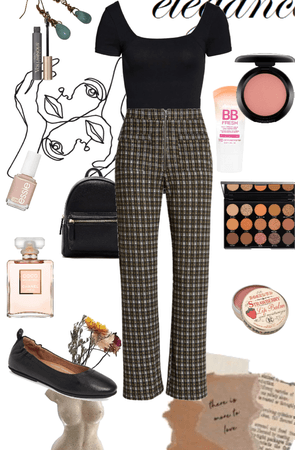 plaid work outfit