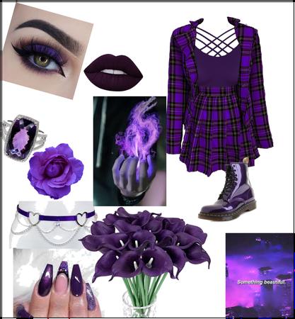 Dark purple outfit