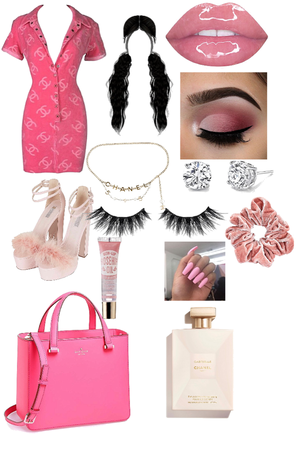 pink drink girl