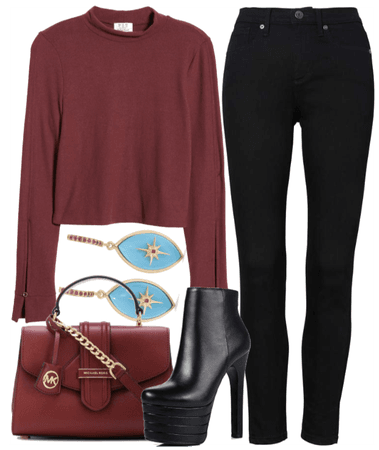 Chic in red & black with a touch of turquoise