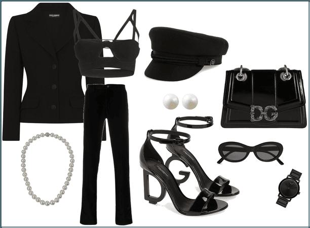 All black dolce & gabbana
